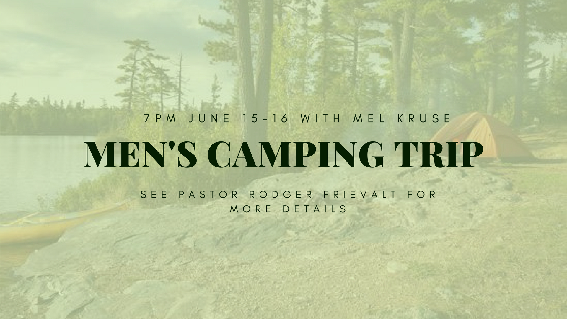 Men's Camping Event